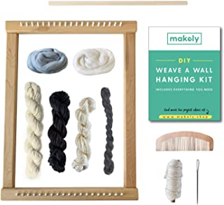 Loom Weaving Kit – Make A DIY Wall Hanging with a Weaving Loom Kit – Includes All Weaving Supplies + Instructions on How to Make a DIY Woven Wall Hanging - Beginner Friendly DIY Weaveing Kits