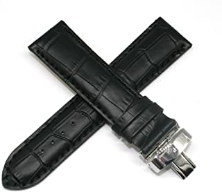Lucien Piccard 24MM Alligator Grain Genuine Leather Watch Strap 8