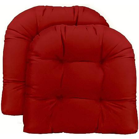 Choose Size RSH D\u00e9cor Sunbrella Canvas Hot Pink Blue IndoorOutdoor Tufted Cushion Ties Bench Swing Glider