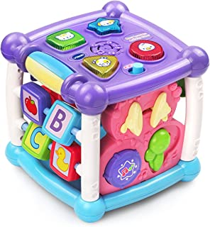 VTech Turn & Learn Cube - Interactive Cube and Shape sorter - Pink - 150553