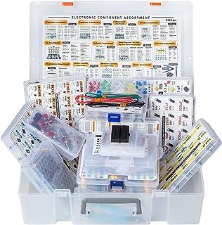 XXXL Electronic Component Assortment Box Kit, 5228 pcs, Capacitors, Transistors, Potentiometers, Diodes, ICs, Inductors, R...