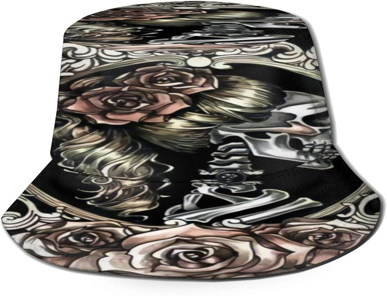 The Rare Dead Sugar Skull Girl Image1 2021 autumn and winter new Hat Bucket Sun Unisex Summe