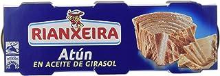 Rianxeira Conserva de atún en aceite de girasol - 18 latas de 80 gr. (Total: 1440 gr.)