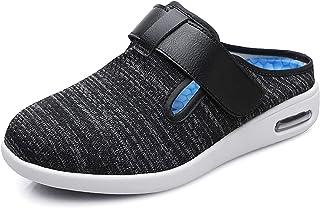 شباشب شبكية للرجال من Goodant مطبوع عليها ذمة السكري، أحذية مشي واسعة قابلة للتعديل للاستخدام في الأماكن المغلقة والمفتوحة...