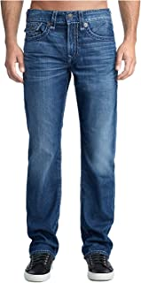 True Religion Men's Ricky Super T Straight Fit Jeans in High Frequency