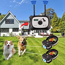 OKPET Wireless Dog Fence Electric Pet Containment System, 100% Safe & Easy to Install Pet Fence, Beep/Shock Dog Fence, Adjustable Control Range, Rechargeable & Waterproof Collar