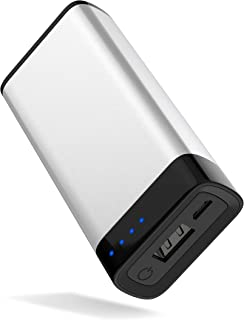 Portable Charger Power Bank Battery - by TalkWorks | 4000 mAh | Cell Phone Backup External USB Power Pack for Apple iPhone 11, XR, XS, X, 8, 7, 6, iPad, Android Samsung Galaxy and More - Silver
