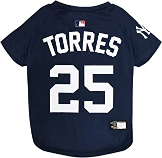 MLB GLEYBER TORRES #25 TEE SHIRT for DOGS & CATS. MLB New York Yankees Player Dog T-Shirt, Large | Sports Dress for Pets |...