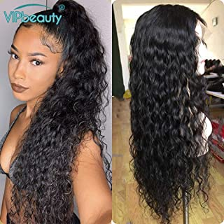Lace Front Human Hair Wigs For Black Women,Malaysian Water Wave 150% Density Water Wave Pre Plucked Remy Hair Wig With Baby Hair(22 Inch)