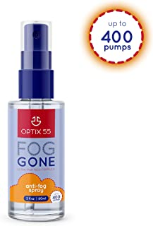 Optix 55 Anti-Fog Spray for Non-Reflective Lenses | Prevents Fogging of Glass or Plastic..