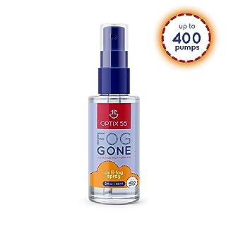 Optix 55 Anti-Fog Spray for Non - Anti Reflective Lenses   Prevents Fogging of Glass or Plastic Windows, Mirrors, Eyewear Lenses, Glasses, Swim Goggles, Ski Masks, Binoculars  Long Lasting Solution