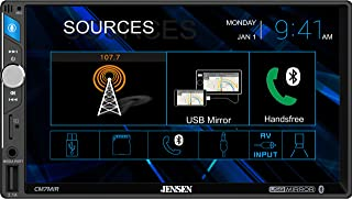 """$219 » JENSEN CM7MIR 7"""" Media Touch Screen Double Din Car Receiver