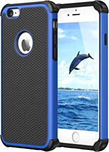 CHTech Double Durable Shockproof Case for Apple iPhone 6/6S 4.7 Inch (Blue)
