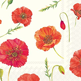 Celebrate the Home Floral 3-Ply Paper Cocktail Napkins, Polly, 20-Count