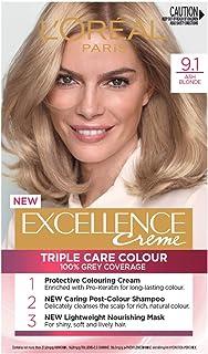 L'Oréal Paris Excellence Creme, 9.1 Light Ash Blonde (100% Grey Coverage)