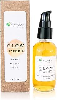 Glow - Turmeric & Rosehip Face Oil, Natural & Organic Face Moisturizer for Sensitive Skin - Anti-Aging Facial Serum - 2 oz