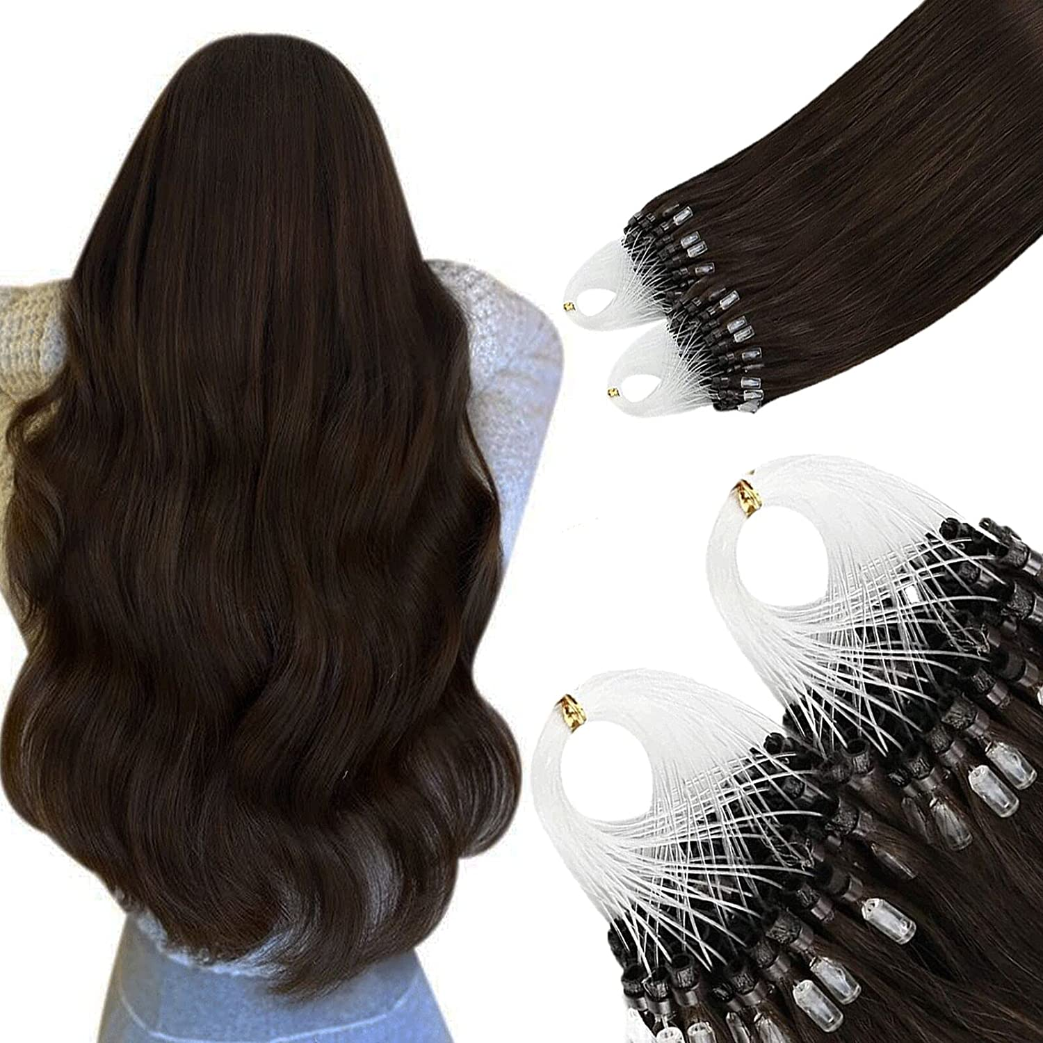 16 Inch Misslala Micro Luxury goods Ring Extensions Super Special SALE held Microbead Hair Real