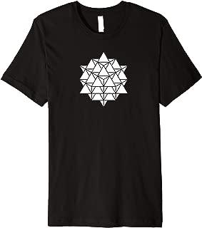 64 Tetrahedron Grid Sacred Geometry Pyramid Flower of Life Premium T-Shirt