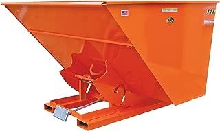Vestil D-50-HD-ORG-C Self-Dump HD Hopper, 0.5 cu. yd, 6000 lb. Capacity, Overall L x W x H (in.) 51-7/8