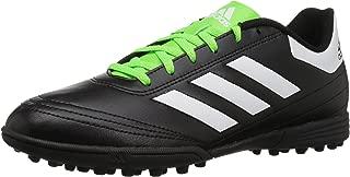 adidas Men's Goletto VI TF Soccer-Shoes, Black/White/Solar Green, 9 M US