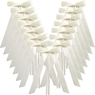 Naler Wedding Pew End Bowknots Ribbon Bows Cars Chairs Decorations 50pcs - Ivory