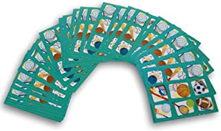 Carson Sports Stickers - Prize Pack for Crafts, Rewards, Incentives - 116 Stickers