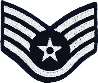 USAF Chevron Blue/Silver (Pair)