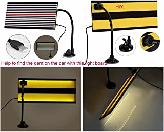 HiYi Led Stripe Line Board Paintless Dent Removal Repair Tool with Ajustment Holder and 5m Long Line White Light Reflector