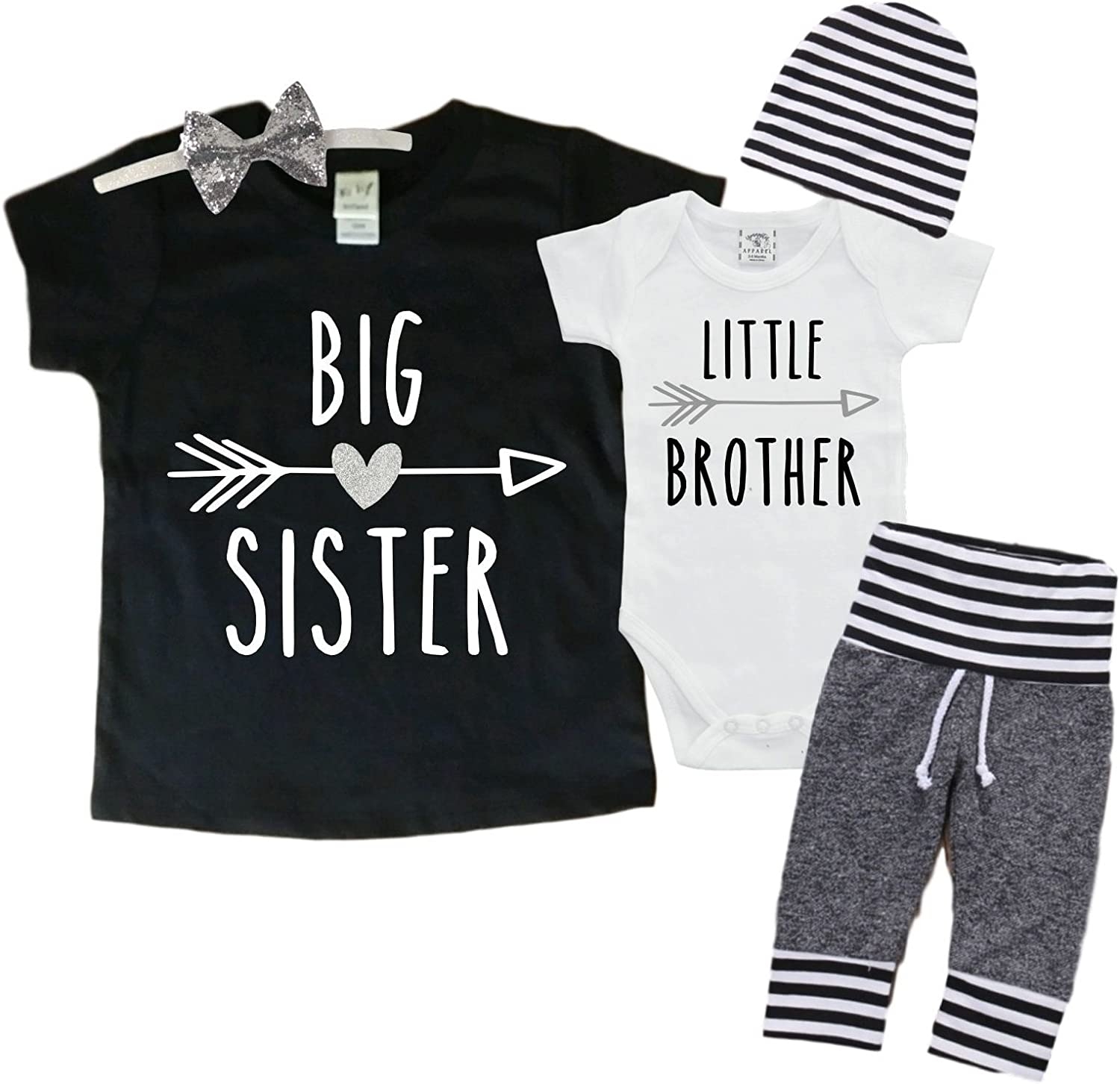 Big Sister Little Brother Set Matching Big Sister Little Brother Set 0 3mo Bodysuit Clothing