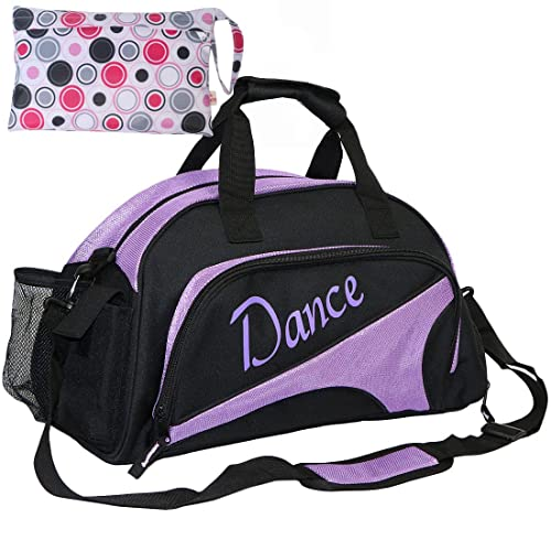 kilofly Girl s Ballet Dance Sports Gym Duffel Bag Travel Carry On + Handy  Pouch 239f366388a05