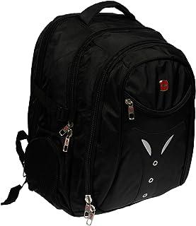 Christian Wippermann XL Buissnes Comort Laptop bis 17 Zoll Schul Rucksack in Schwarz