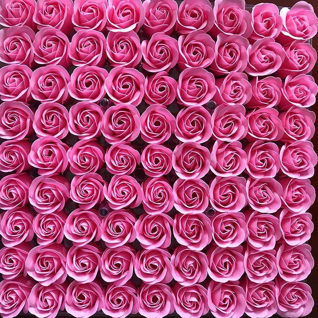 飢饉ゆりベース81PCS DIY ボディソープ バラ ローズ 洗濯用 フラワーソープ 良い香り 三層 贈り物 結婚披露宴 バレンタインデーギフト 石鹸の花+ボックス