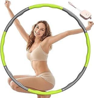MpioLife Hula Hoop op dla dorosłych, 6-8 zdejmowanych części fitness, koła do fitnessu, dla dorosłych i dzieci, hula hop d...