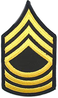 Army MSG Master Sergeant ASU Sew On Rank Gold and Blue - Small