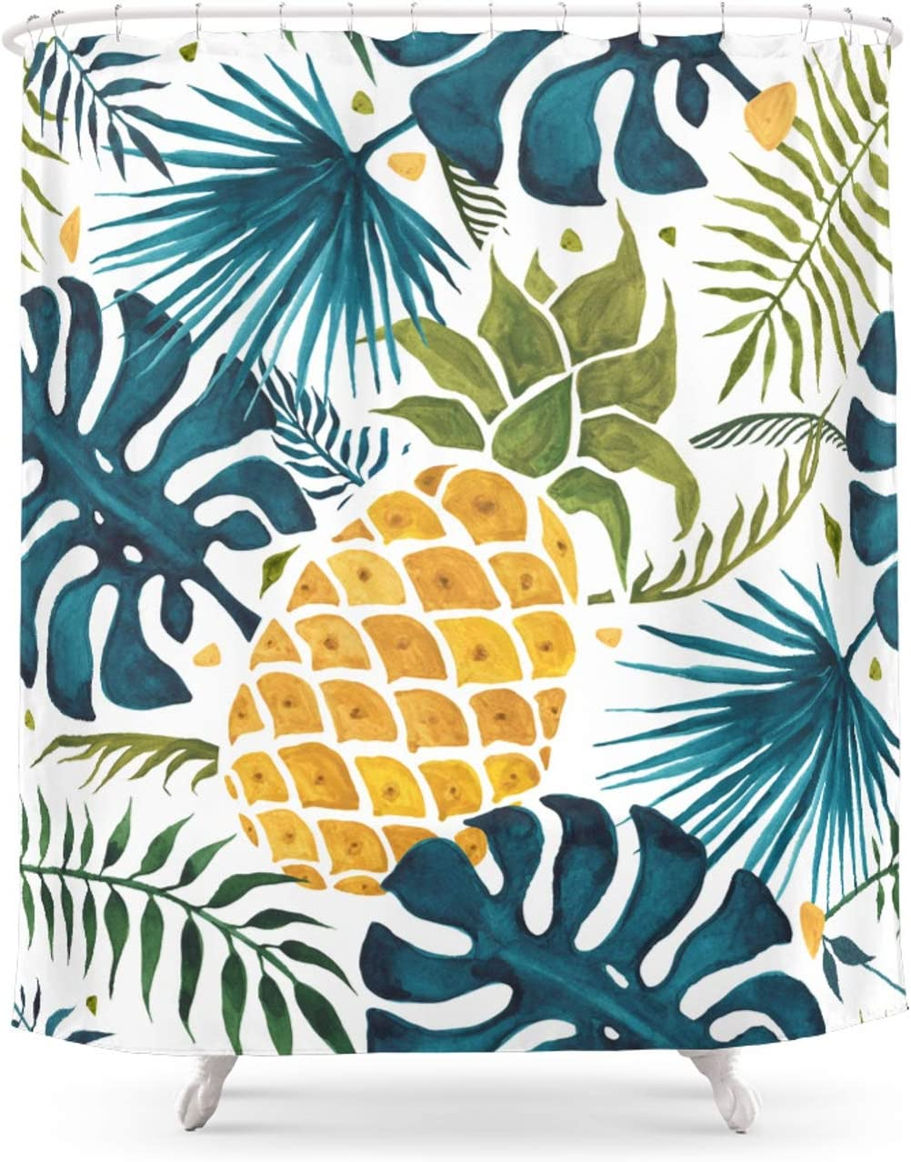 Society6 Golden Pineapple Manufacturer OFFicial shop On Palm Thunesdesign Cheap SALE Start Leaves Foliage by