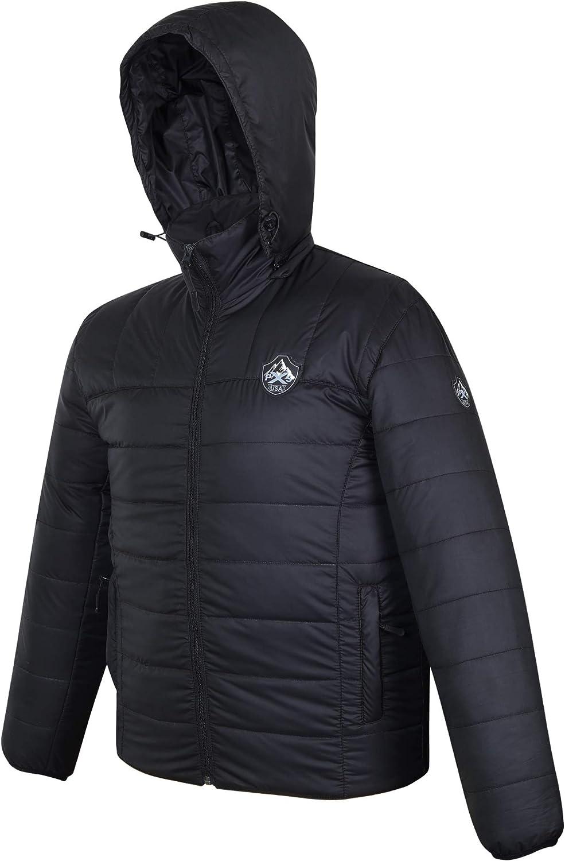 PXSkin Men's Down Hoody Water-Resistant Packable Puffer Jacket   Winter Lightweight, Water-Resistent coat
