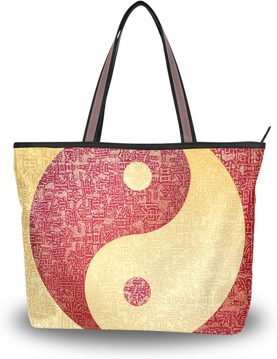 Bargain sale JSTEL Women Large Tote Top Handle Yin Chinese Shoulder Yang Mail order cheap Bags