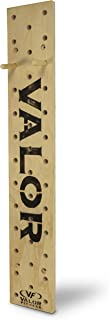 Valor Fitness PG-1 Climbing Peg Board with 2 Hardwood Pegs and Mounting Brackets