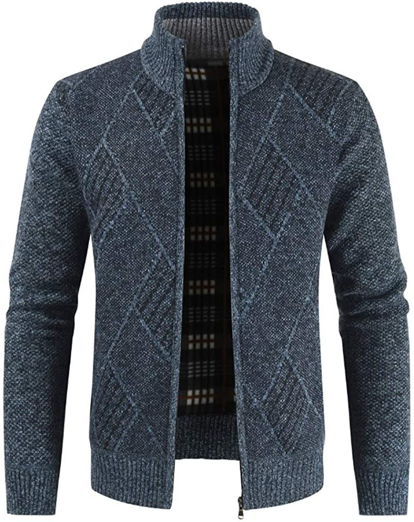 Men's Slim Fit Cardigan Sweaters Lightweight Long Sleeve Open Front Cardigans Trench Jacket