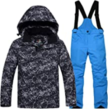 CH&Q Boys Ski Suit Kids Jackets and Pants Winter Skiing Set Windproof Waterproof Ski Suits