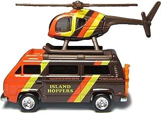 Magnum P.I. Island Hopper helicopter & Volkswagen Sunagon Van- Hot Wheels Retro Entertainment TV Set