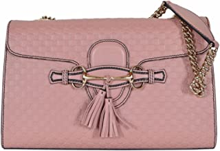 Gucci Women's Micro GG Guccissima Leather Emily Purse Handbag (449635/Soft Pink)