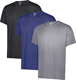 Men's Dry-FIT Active Athletic Moisture Wicking Performance Crew Neck T-Shirts [3-Pack]