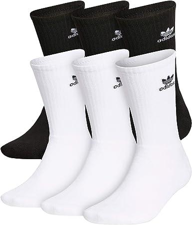 Amazon.com: adidas Originals Men's Trefoil Crew Socks (6-Pair ...