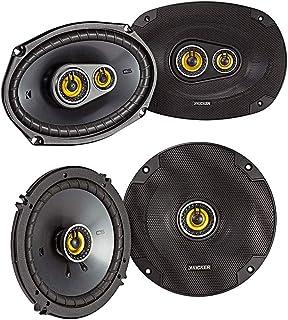 Kicker CS Series CSC693 150 Watt 6 x 9 Inch 3 Way Dual Speakers with CSC65 100 Watt 6.5 Inch 2 Way Car Audio System Dual C... photo