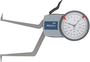 Mitutoyo 209-351 Caliper Gauge, Pointed Jaw, White Face, 0.20-0.60