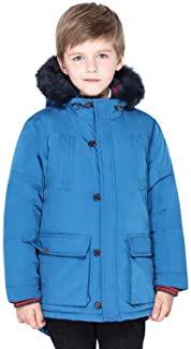 SOLOCOTE Boys Winter Coats Kids Winter Jacket Warm Thick Heavyweight Tough Long Windproof Outwear with Hood