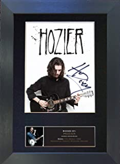 #567 Hozier Signed Autograph Photo Reproduction Print A4 Rare Perfect Birthday (297 x 210mm) (Black Frame)