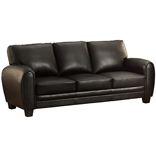 Enjoyable Black Leather Couches Amazon Com Onthecornerstone Fun Painted Chair Ideas Images Onthecornerstoneorg