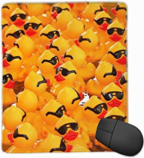 Mouse Pad, Rubber Ducky with Sunglasses Design Computer Mouse Mat with Non-Slip Rubber Base, Waterproof Mouse Pad with Stitched Edges, Mouse Pads for Computers, Laptop, Office & Home